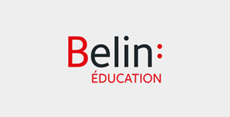 Logo Belin Education petit format fond gris